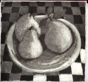 Pears and Pottery Plate